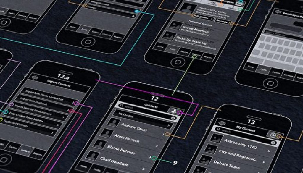 The use of wireframes in App development